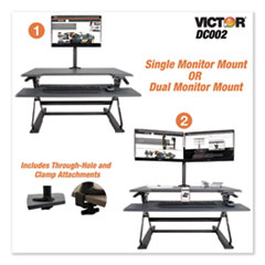 VCT DC002 Victor Monitor Mount with Single and Dual Arm Components VCTDC002