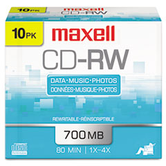 MAX 630011 Maxell CD-RW Rewritable Disc MAX630011