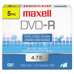 MAX 638002 Maxell DVD-R Recordable Disc MAX638002