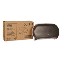 TRK 56TR Tork Twin Jumbo Roll Bath Tissue Dispenser TRK56TR