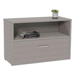 LIT UR604ASH Linea Italia Urban Series Low File Cabinet Credenza LITUR604ASH