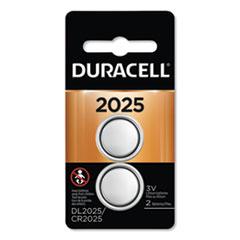 DUR DL2025B2PK Duracell Lithium Coin Batteries DURDL2025B2PK