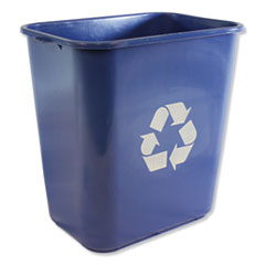 IMP 7702BLUR Impact Soft-Sided Recycle Logo Plastic Wastebasket IMP7702BLUR