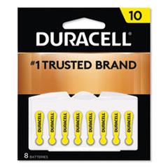 DUR DA10B8ZM10 Duracell Hearing Aid Batteries DURDA10B8ZM10
