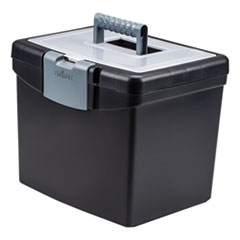 STX 61504U01C Storex Portable File Box with Large Organizer Lid STX61504U01C