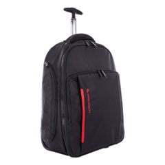 SWZ BKPW1018SMBK Swiss Mobility Stride Business Backpack On Wheels SWZBKPW1018SMBK