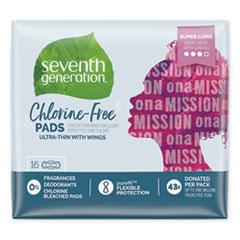 SEV 450046 Seventh Generation Chlorine-Free Pads SEV450046