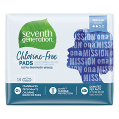 SEV 450022 Seventh Generation Chlorine-Free Pads SEV450022