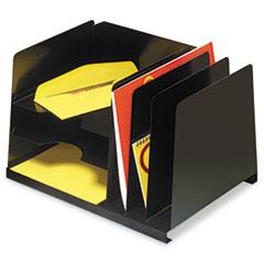 MMF 264R3HVBK SteelMaster Combination Letter-Size Organizer MMF264R3HVBK