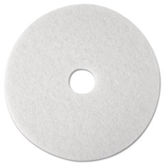 MMM 08476 3M White Super Polish Floor Pads 4100 MMM08476