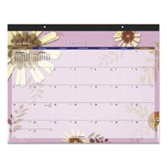 Paper Flowers Desk Pad, 22 x 17, 2022
