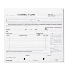 RED 44302 Rediform Snap-A-Way Bill of Lading, Short Form RED44302