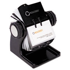 ROL 1734238 Rolodex Wood Tones Open Rotary File ROL1734238