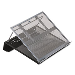 ROL 82410 Rolodex Mesh Laptop Stand with Cord Organizer ROL82410