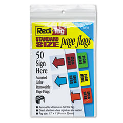 RTG 76830 Redi-Tag Removable/Reusable Standard Page Flags Value Pack RTG76830