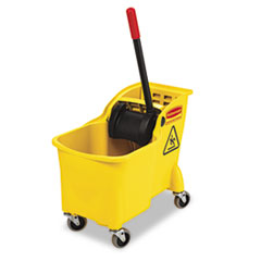RCP 738000YEL Rubbermaid Commercial Tandem 31-Quart Bucket/Wringer Combo RCP738000YEL