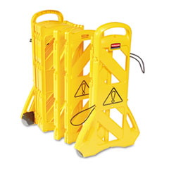 RCP 9S1100YEL Rubbermaid Commercial Portable Mobile Safety Barrier RCP9S1100YEL