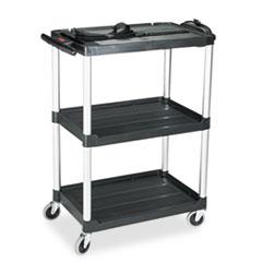 RCP 9T30 Rubbermaid Commercial MediaMaster Three-Shelf AV Cart RCP9T30