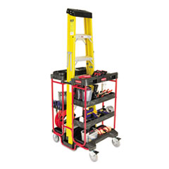 RCP 9T57BLA Rubbermaid  Commercial Ladder Cart With Open Ends RCP9T57BLA