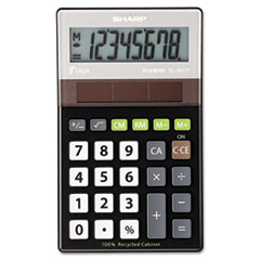 SHR ELR277BBK Sharp EL-R277BBK Recycled Series Handheld Calculator SHRELR277BBK