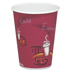 SCC 378SIPK Dart Solo Paper Hot Drink Cups in Bistro Design SCC378SIPK