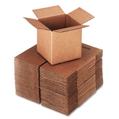 UFS 666 United Facility Supply Brown Corrugated - Cubed Fixed-Depth Shipping Boxes UFS666