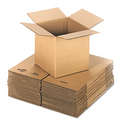 UFS 121212 United Facility Supply Brown Corrugated - Cubed Fixed-Depth Shipping Boxes UFS121212