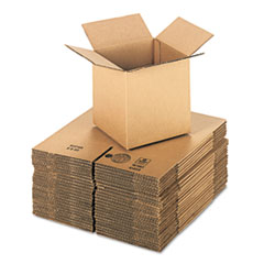 UFS 888 United Facility Supply Brown Corrugated - Cubed Fixed-Depth Shipping Boxes UFS888
