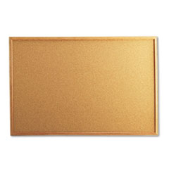 UNV 43603 Universal Cork Board with Oak Style Frame UNV43603