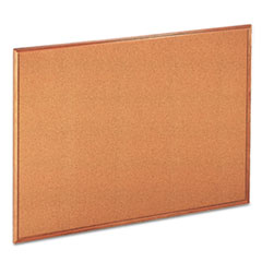 UNV 43604 Universal Cork Board with Oak Style Frame UNV43604