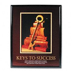 """Keys To Success"" Framed Motivational Print, 24w x 30h"