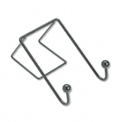 Alera 5 Hook Steel Wire Shelving Garment Rack Black
